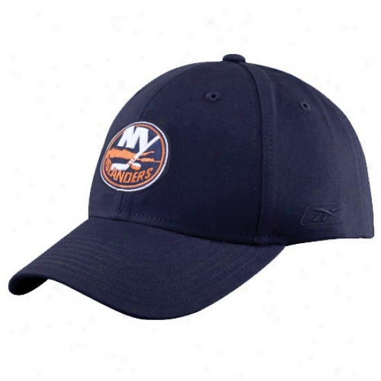Recent York Islanders Gear: Reebok New York Islanders Navy Blue Basic Logo Wool Blend Hat