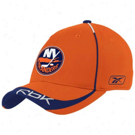 New York Islanders Cardinal's office : Reebok New York Islanders Orange Player 2nd Season Flex Fit Hat