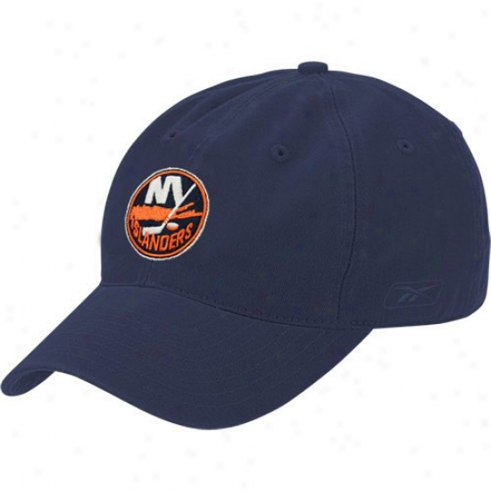 Just discovered York Islanders Hat : Reebok New York Islander sNavy Blue Face Off Lubber Flex Fit Hat