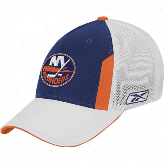 New York Islanders Hats : Reebok New York Isladers 2008 Nhl Outline Day Pro Flex Be suited Hats