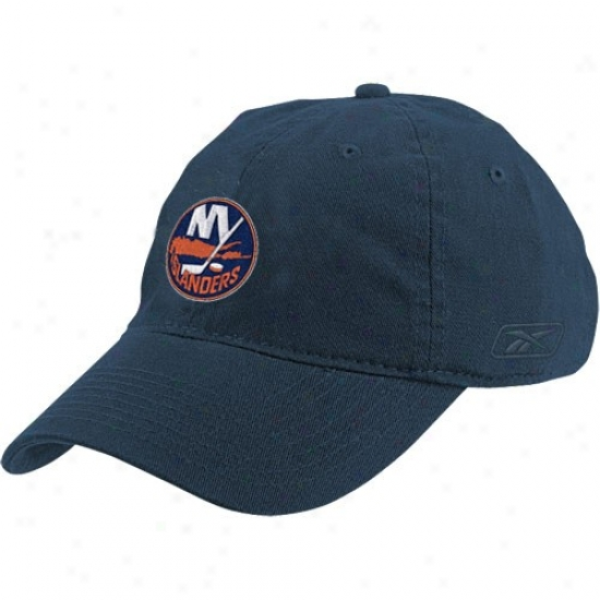 New York Islandeers Hats : Reebok New York Islanders Navy Blue Ladies Clownish gait Hats