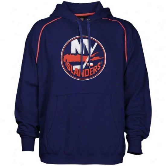 New York Islanders Hoodie : Majestic New York Islanders Navy Blue Fear And Trembling Hoodie