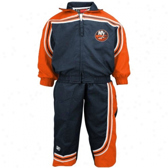 New York Islanders Jackets : Reebok New York Islandesr Navy Blue Toddler 2-piece Windsuit