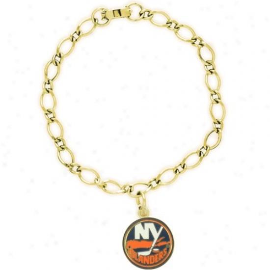 New York Islanders Ladues Gold-tone Charm Bracelet