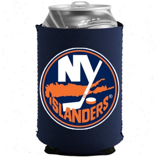 New York Islanders Navy Blue Collapsible Can Coolie