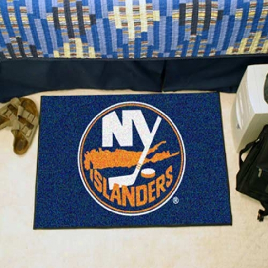 New York Islanders Navy Blue Logo Starter Mat
