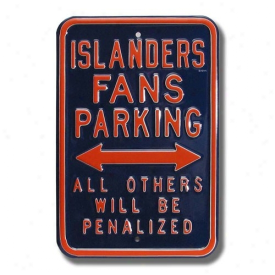 New York Islanders Navy Blue Parkinv Sign
