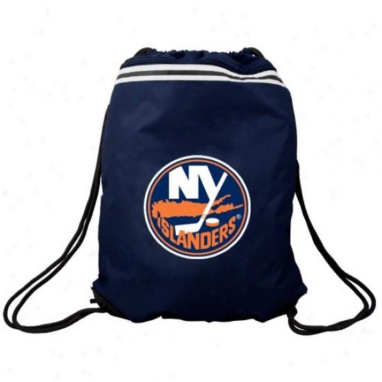 New York Islanders Navy Blue Team Logo Drawstring Backpack