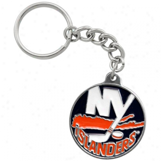 New York Iwlanders Pewter Primary Logo Keychain