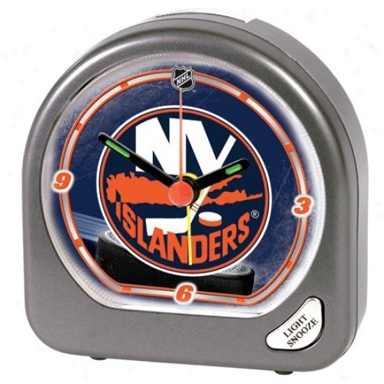 Nee York Islanders Plastic Alarm Clock