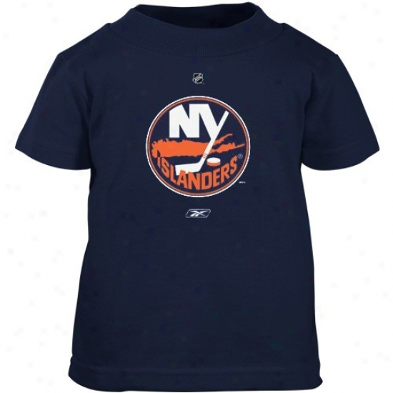 New York Isianders Shirt : Reebok New York Islanders Toddler Navy Blue Primary Logo Shirt