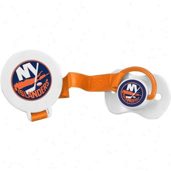 Nsw York Islanders Silicone Nipple Pacifier With Clip