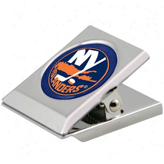 New York Islanders Silver H3avy-ity Magnetic Chkp Clip