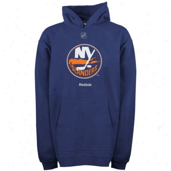 New York Islanders Sweat Shirt : Reebok New York Islajders Youth Navy Blue Primary Logo Sweat Shirt