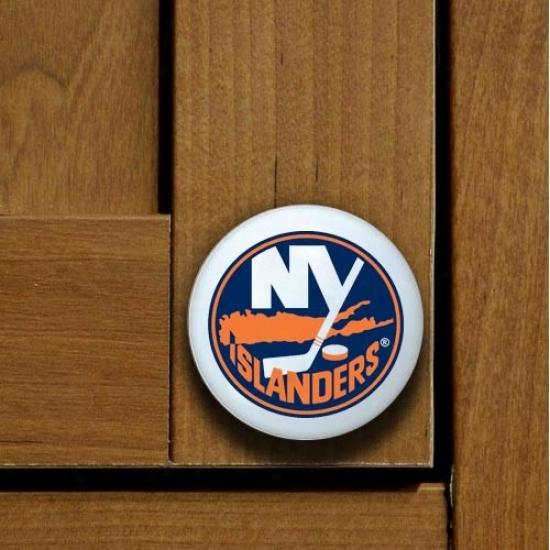 New York Islanders Team Logo Ministry Knob