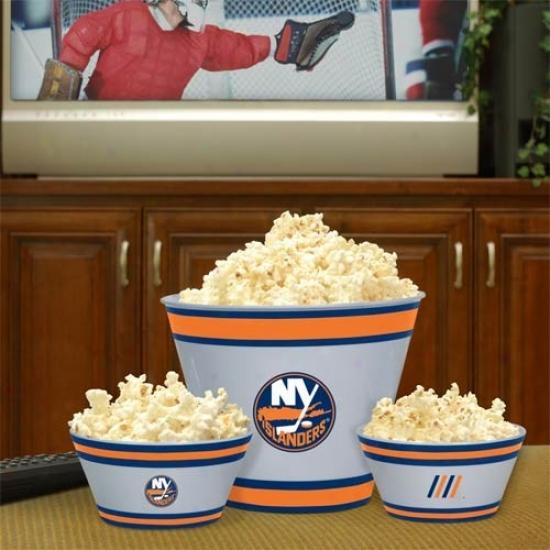 New York Islanders Three-piece Melamine Serving Set
