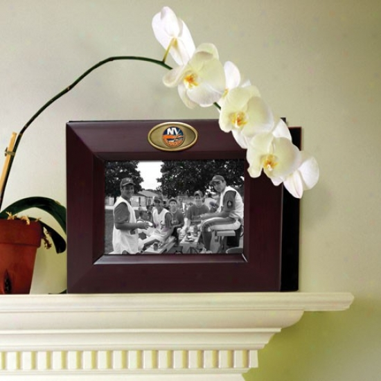 New York Islanders Wooden Picture Frame & Photo Album