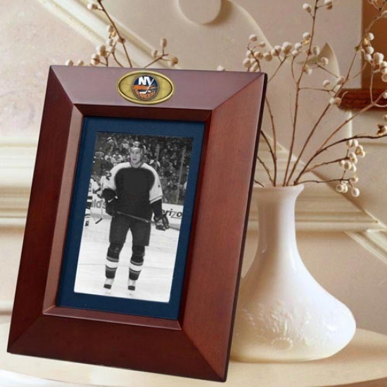 New York Islanders Wooden Vertical Picture Frame