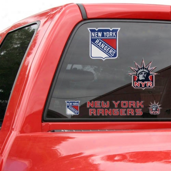 New York Rangers 11x17 Window Clings Sheet