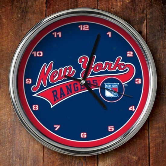 New York Rangers 12'' Chrome Clock