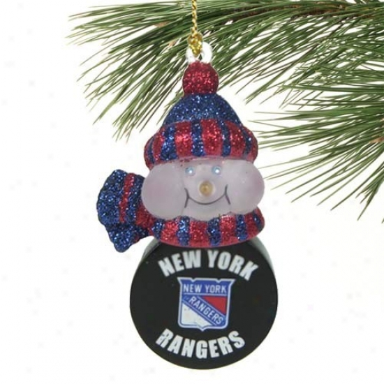 New York Rangsrs All-star Light-up Snowman Ornament