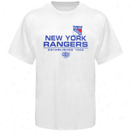 New York Rangers Apparel: Old Time Hockey New York Rangers White Zeno T-shirt