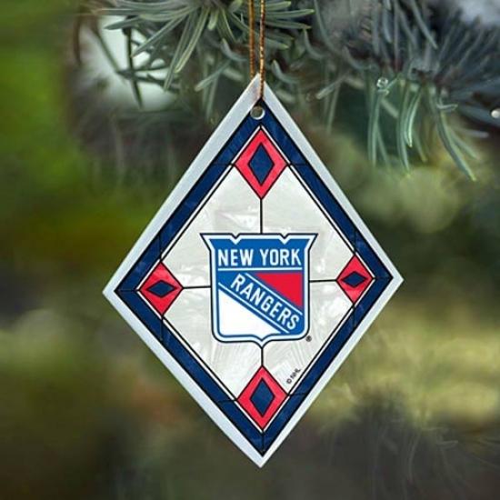 New York Rangers Art-glass Ornament