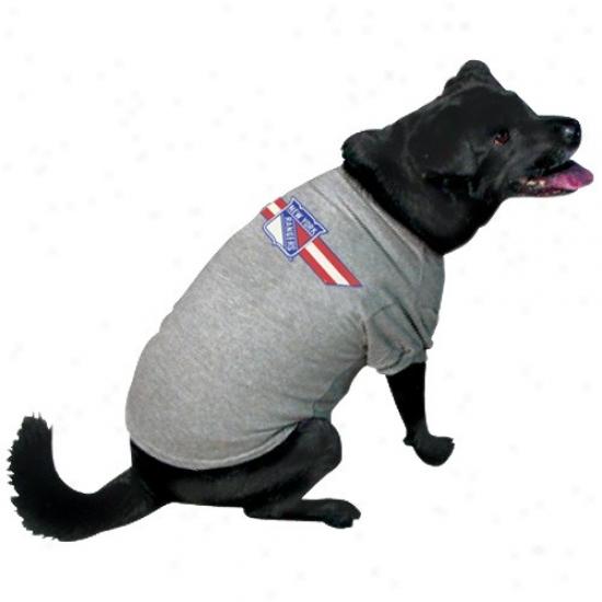New York Rangers Ash Logo Pet T-shirt