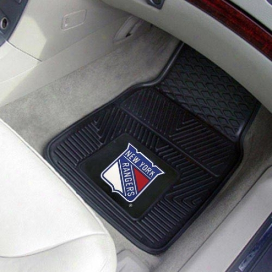 New York Rangers Black 2-pidce Vinyl Car Interweave Set