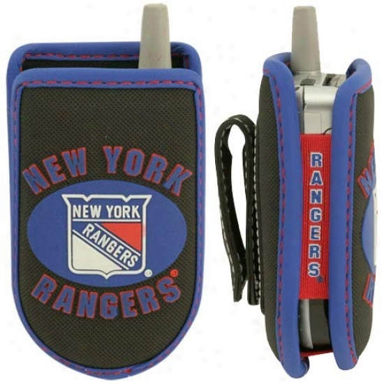 New York Rangers Black Game Wear Hockey Puck Cell Phone Caes