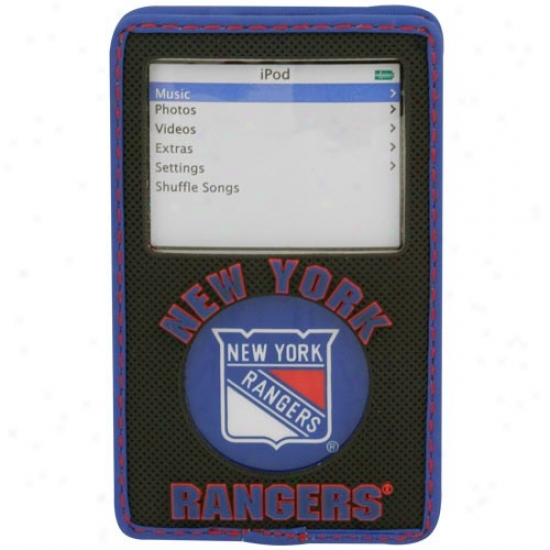 New Yotk Rangers Black Game Wear Hockey Puck Ipod Case