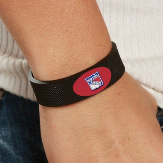 New York Rangers Black Hockey Bracelet