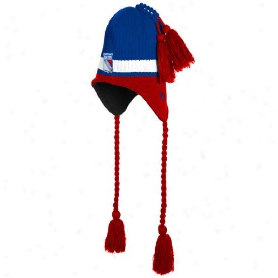 New Yodk Rangers Match : New Era New York Rangers Royal Blue Tasselhoff Knit Beanie