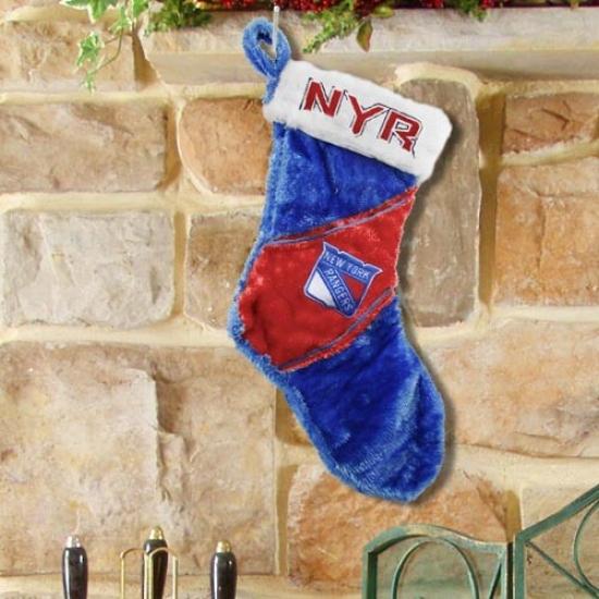 New York Rangers Colorblock Plush Stocking