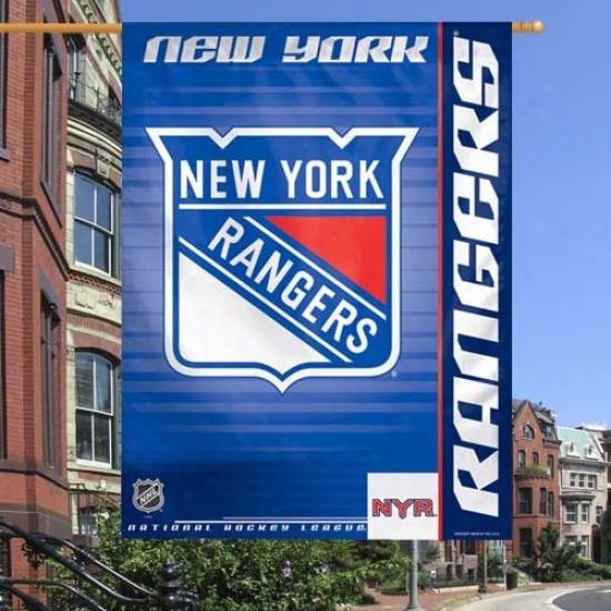 Nrw York Rangers Flag : New York Rangers Royal Blue 27'' X 37'' Vertical Flag Flag