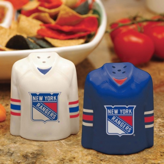 New York Rangers Gameday Ceramic Salt & Pepper Shakers