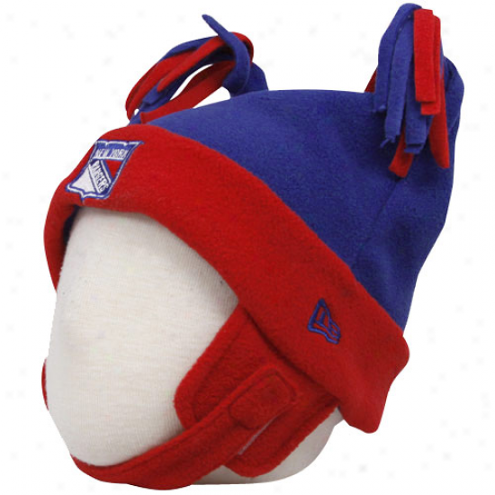 New York Rangers Hat : Just discovered Era New York Rangers Infant Royal Blue-red Doubling Bunny Cuffed Fleece Beanie