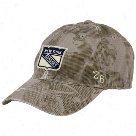 New York Rangers Hat : Reebok New York Rangers Camo Vintage Flex Fit Hat