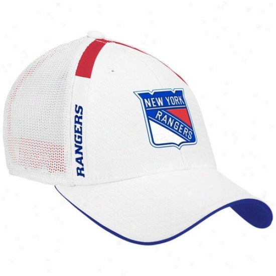 New York Rangers Hat : Reebok New York Rangers Pure  Nhl Draft Day Flex Fit Hat