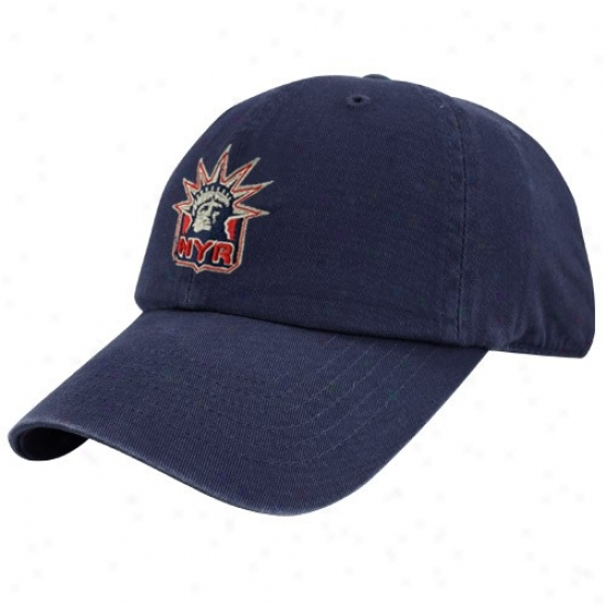 New York Rangers Hat : Twins Enterprise New York Rangers Navy Livid Franchise Fittex Hat