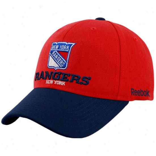 New York Rangers Hats : Reebok New York Rangers Re Official Color Blocked Adjustable Hats