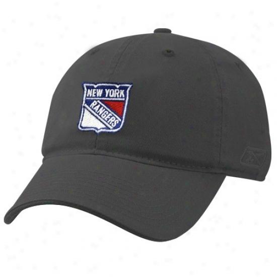 New York Rangers Hats : Reebok New York Ragners Ladies Navy Blue Basic Logo Lubber Hats