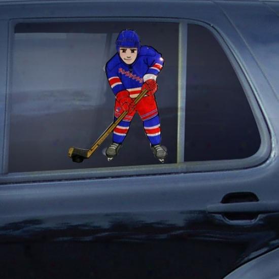 New York Rangers Hockey Player Car Window Light
