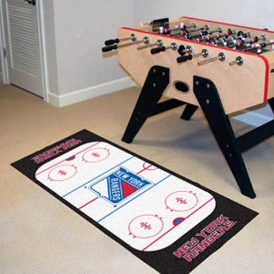 New York Rangers Hockey Runner Mat