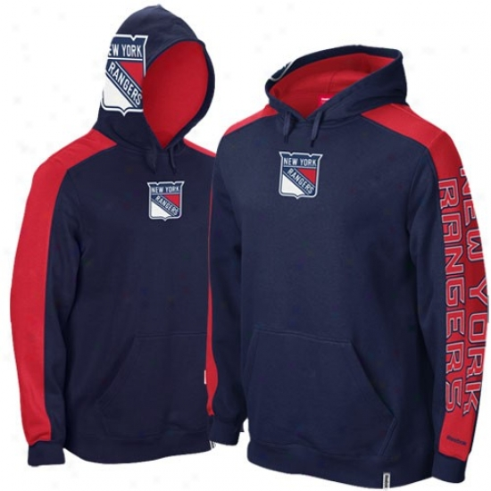 New York Rangera Hoodie : Reebok New York Rangers Navy Blue Game Day Hoodie