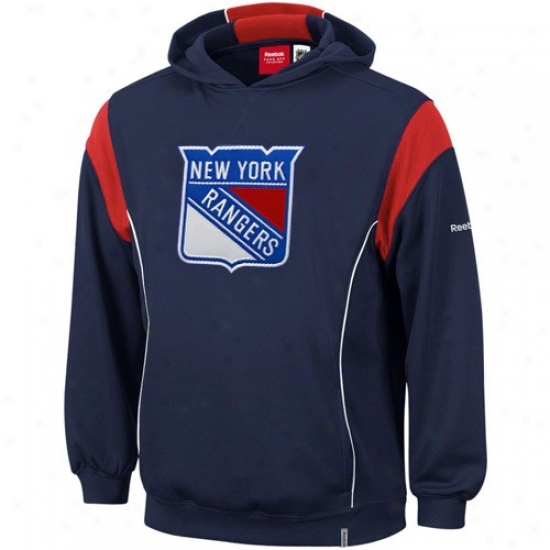 New York Rangers Hoodie : Reebok New York Rangers Navy Blue Showboat Hoodie