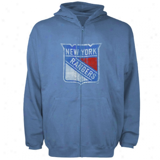 Just discovered York Rangers Hoodies : Reebok New York Rangers Blue Better Logo Distressed Full Zip Hoodies
