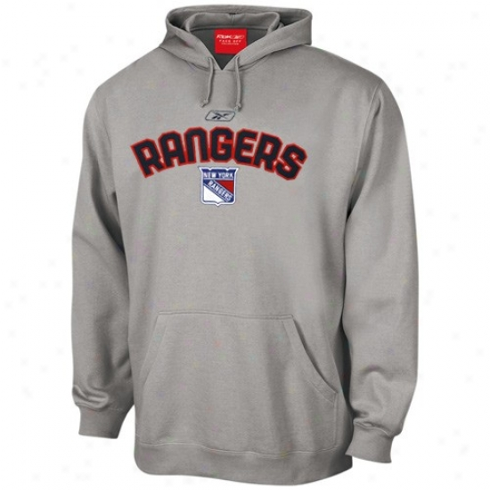 New York Rangers Hoodys : Reebok New York Rangers Ash Playbook Hoodys