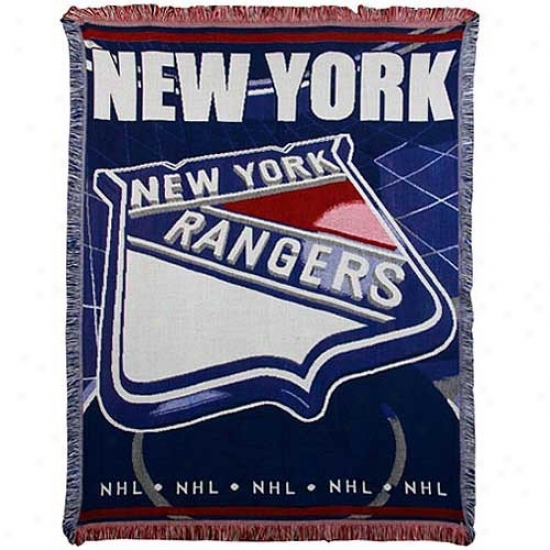 New York Rangers Jacquard Woven Blanket Throw