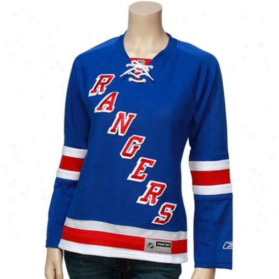 New York Rangers Jersey : Reebok New York Rangers Ladies Royal Blue Edge Replica Hockey Jersey